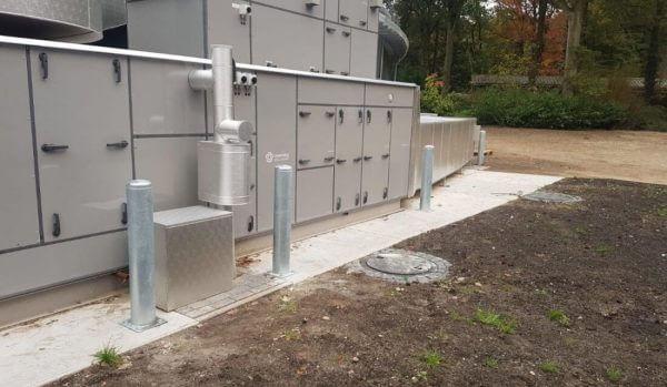 Aanrijdbeveiliging-Nederland Burgers-Zoo-rampaal-staal-voetplaat